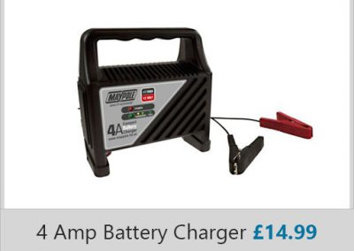 4 AMP Battery Charger by Maypole